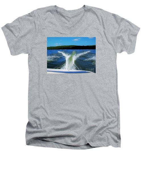 Boat Wake Men's V-Neck T-Shirt by Patti Whitten