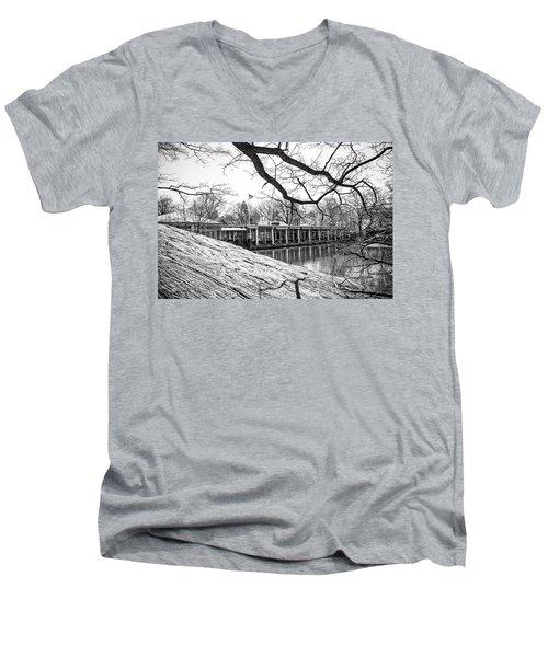 Boathouse Central Park Men's V-Neck T-Shirt by Alan Raasch