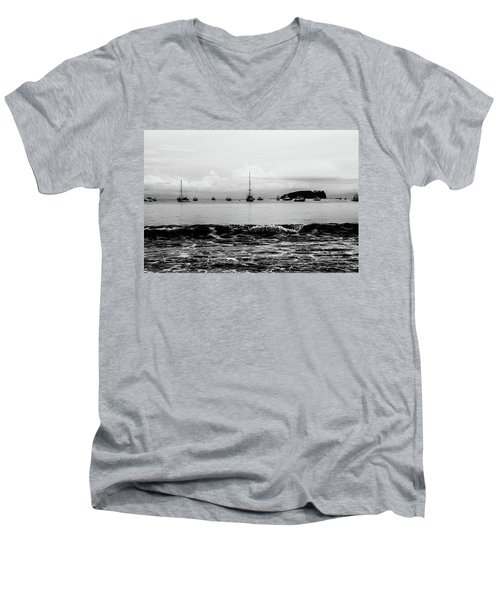 Boats And Waves 2 Men's V-Neck T-Shirt