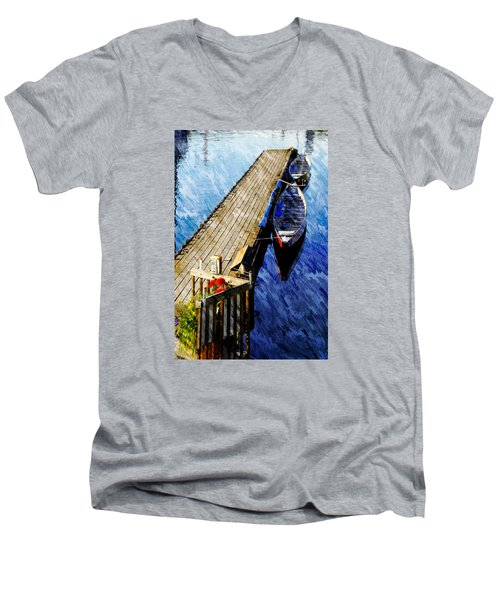 Boats At Rest Men's V-Neck T-Shirt