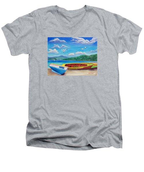 Boats At Rest Men's V-Neck T-Shirt