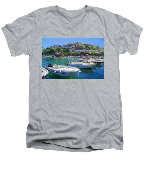 Boats In Bali Men's V-Neck T-Shirt