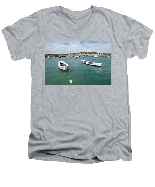 Boats In Habour Men's V-Neck T-Shirt