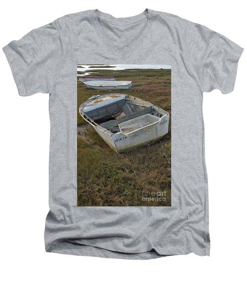 Boats In Ria Formosa Men's V-Neck T-Shirt