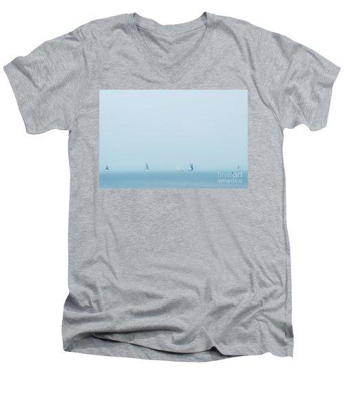 Boats On The Irish Sea Men's V-Neck T-Shirt