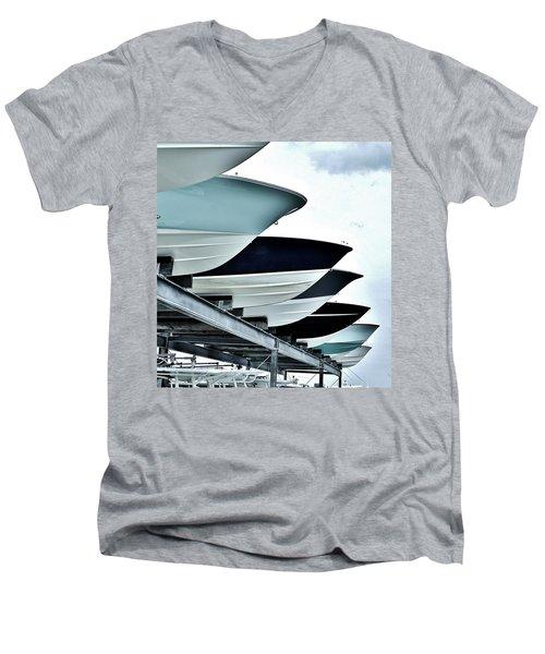Boatyard, Tiki 52 Men's V-Neck T-Shirt by John Wartman
