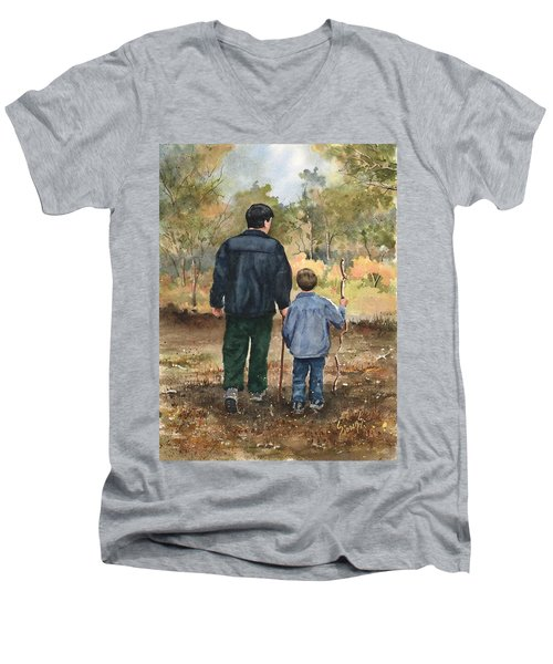 Bob And Alex Men's V-Neck T-Shirt by Sam Sidders