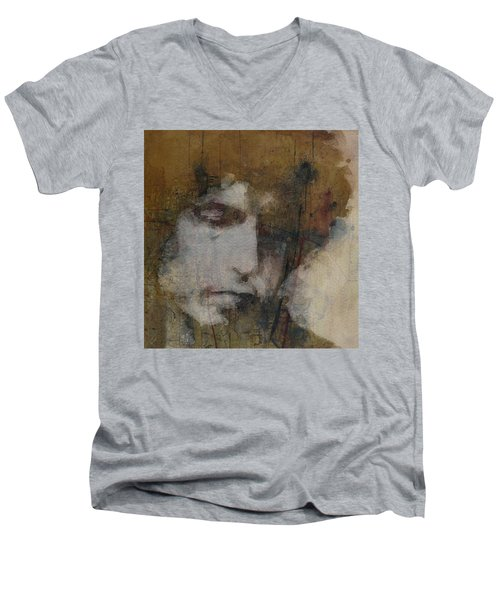 Bob Dylan - The Times They Are A Changin' Men's V-Neck T-Shirt