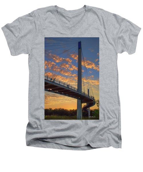 Bob Kerry Bridge At Sunrise Men's V-Neck T-Shirt