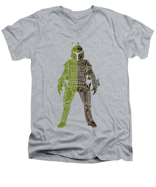 Boba Fett - Star Wars Art, Green 03 Men's V-Neck T-Shirt