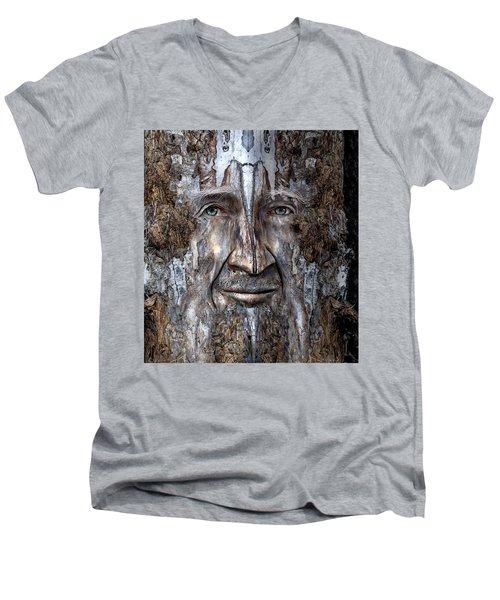 Bobby Smallbriar Men's V-Neck T-Shirt by Rick Mosher
