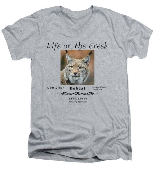 Bobcat - Lynx Rufus Men's V-Neck T-Shirt