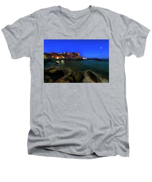 Boccadasse By Night Men's V-Neck T-Shirt