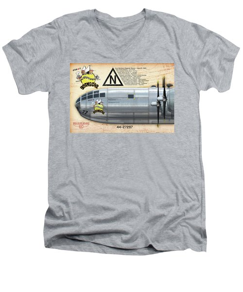 Bockscar Nosearts Men's V-Neck T-Shirt by David Collins