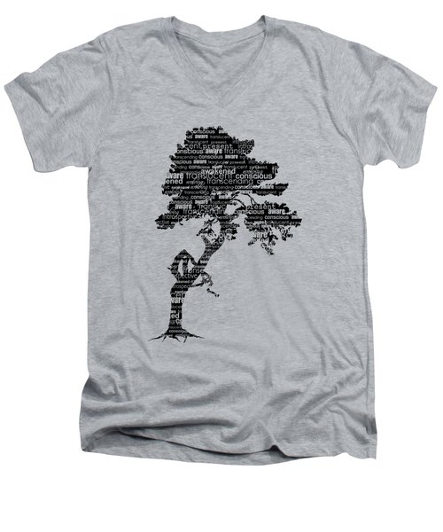Bodhi Tree Of Awareness Men's V-Neck T-Shirt by Tammy Wetzel