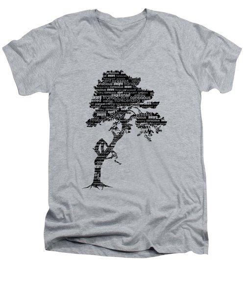 Bodhi Tree Of Awareness Men's V-Neck T-Shirt