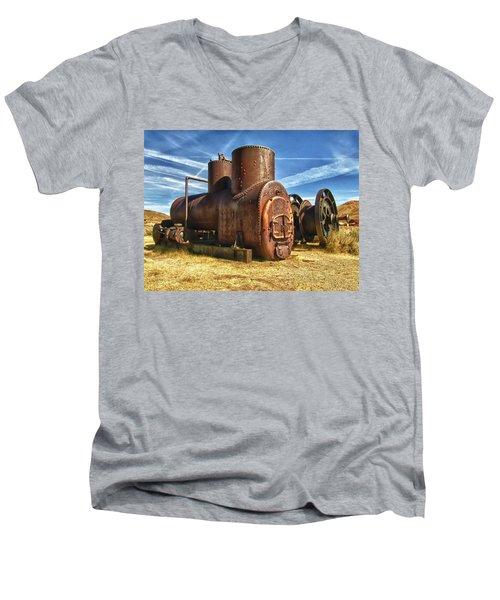 Old Boiler Bodie State Park Men's V-Neck T-Shirt by James Hammond