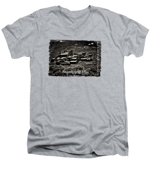 Bodie Ghost Town Stamping Mill Men's V-Neck T-Shirt