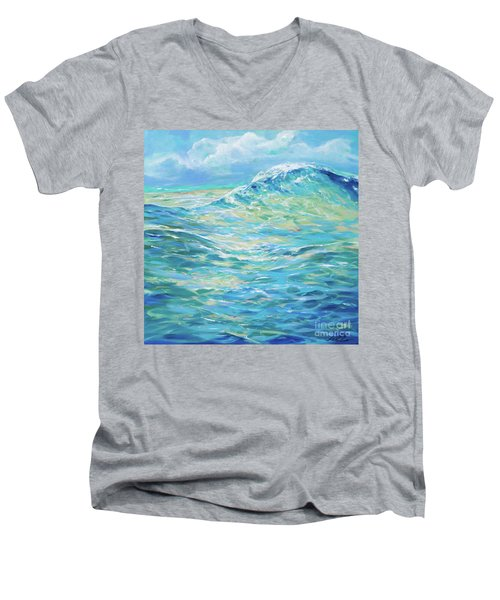 Bodysurfing Rolling Wave Men's V-Neck T-Shirt