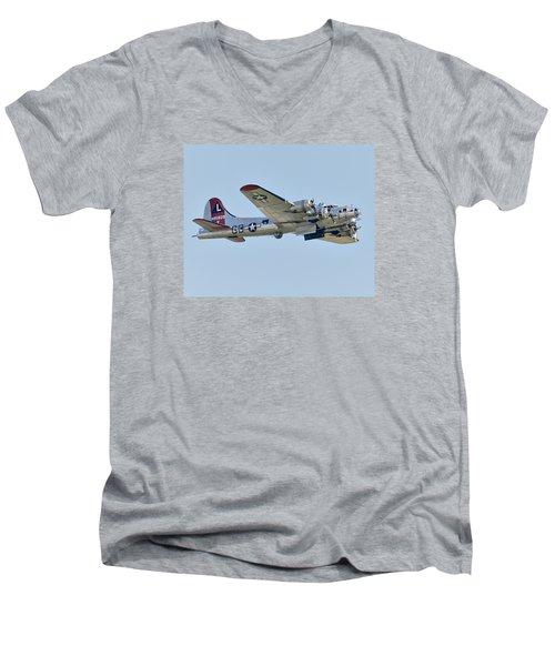 Boeing B-17g Flying Fortress Men's V-Neck T-Shirt by Alan Toepfer
