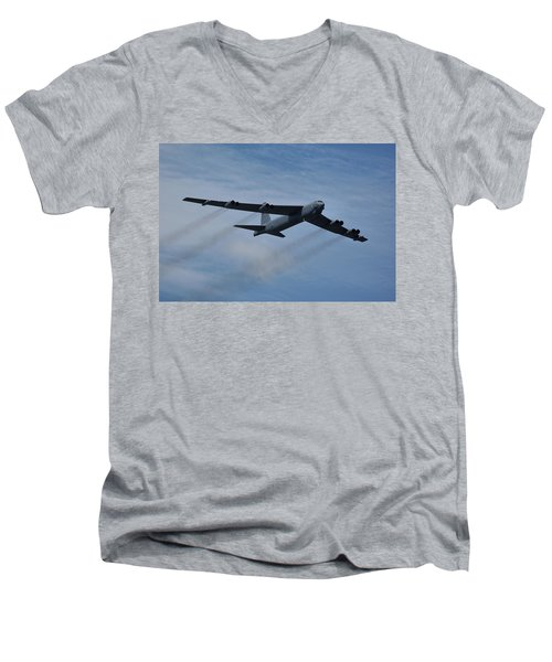 Boeing B-52h Stratofortress Men's V-Neck T-Shirt by Tim Beach