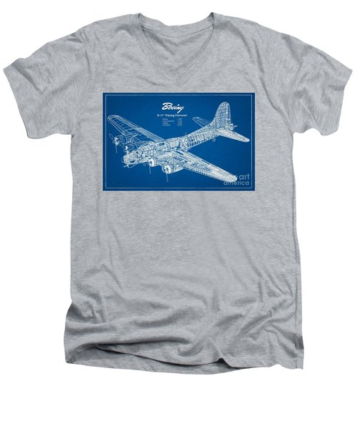 Boeing Flying Fortress Men's V-Neck T-Shirt by Pg Reproductions