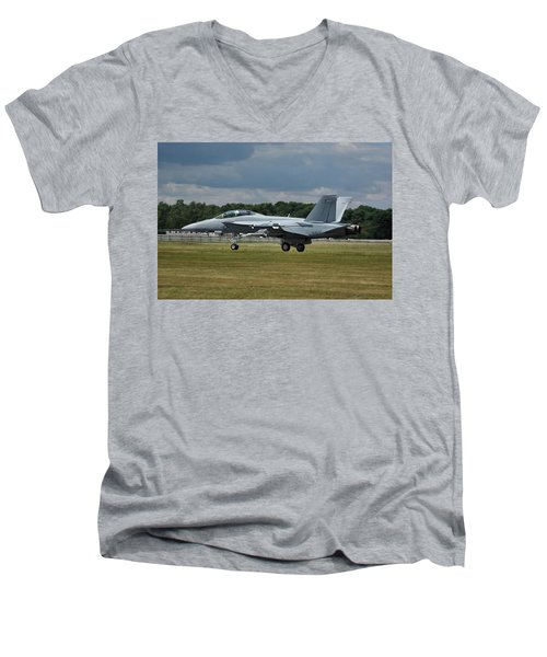 Boeing Super Hornet  Men's V-Neck T-Shirt by Tim Beach