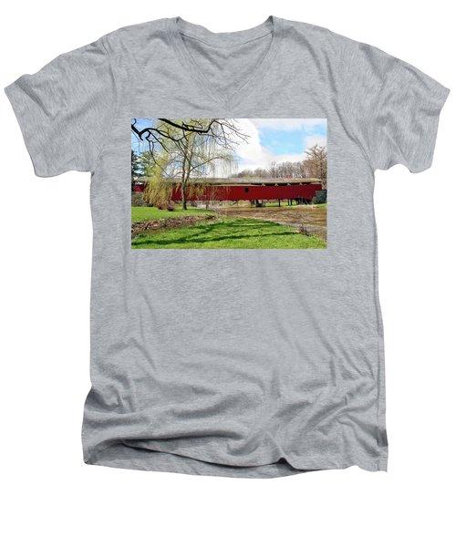 Bogert Covered Bridge Men's V-Neck T-Shirt