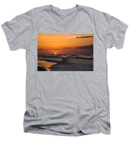 Bogue Banks Sunrise Men's V-Neck T-Shirt