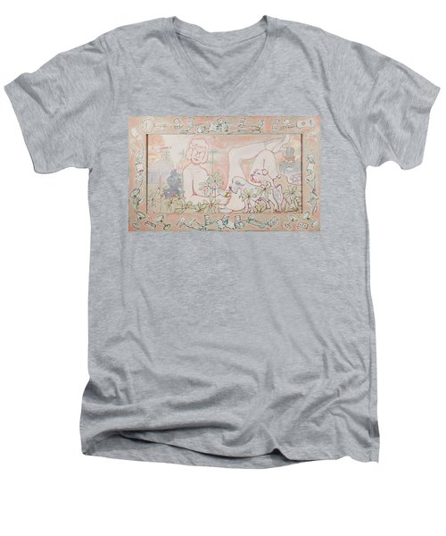Bohemian Grove Bar Men's V-Neck T-Shirt