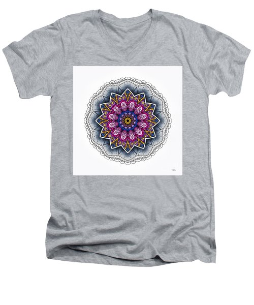 Men's V-Neck T-Shirt featuring the digital art Boho Star by Mo T