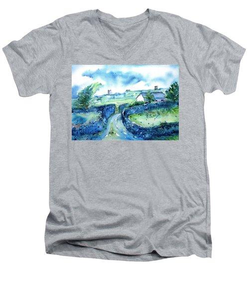 Boithrin Inisheer Men's V-Neck T-Shirt by Trudi Doyle