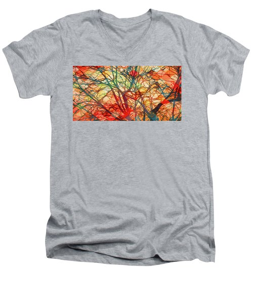 Bold And Colorful Men's V-Neck T-Shirt