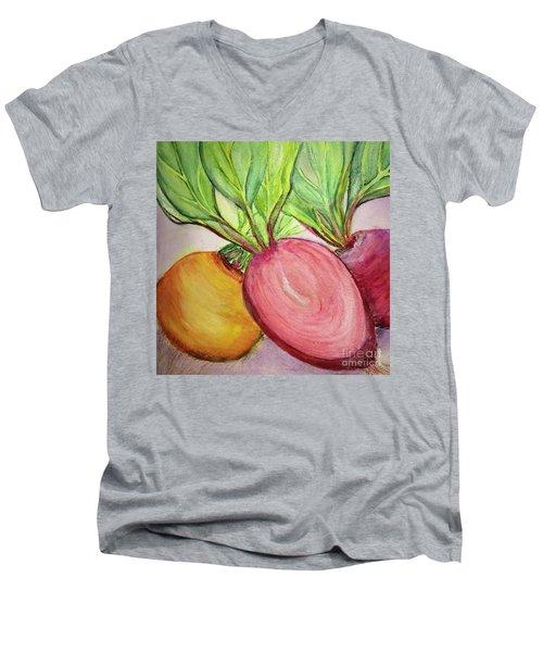 Bold Beets Men's V-Neck T-Shirt