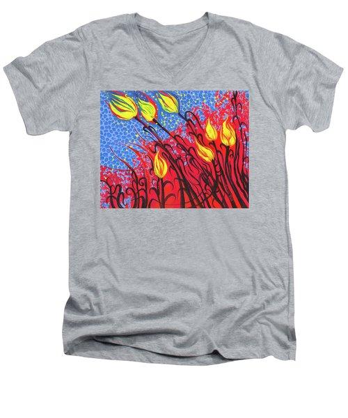 Bold Tulips Men's V-Neck T-Shirt