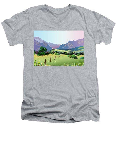 Bolder Boulder Poster 2009 Men's V-Neck T-Shirt