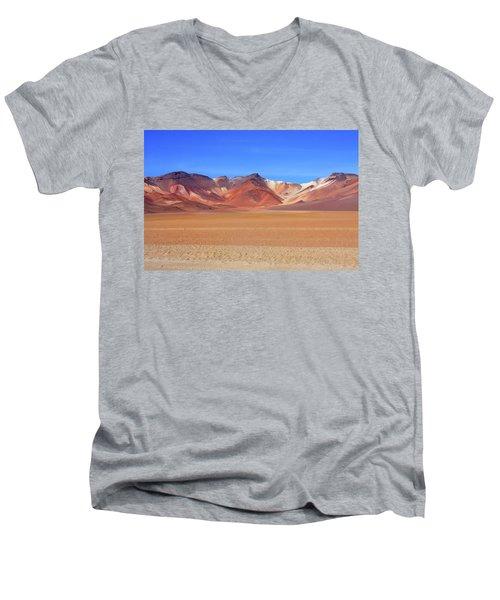 Men's V-Neck T-Shirt featuring the photograph Bolivian Altiplano  by Aidan Moran