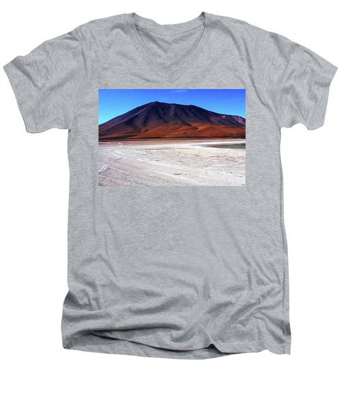 Men's V-Neck T-Shirt featuring the photograph Bolivian Altiplano, South America by Aidan Moran