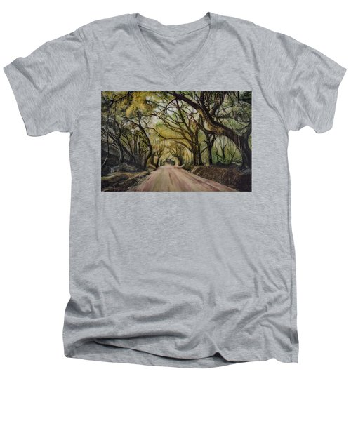 Bombay Road Men's V-Neck T-Shirt by Ron Richard Baviello