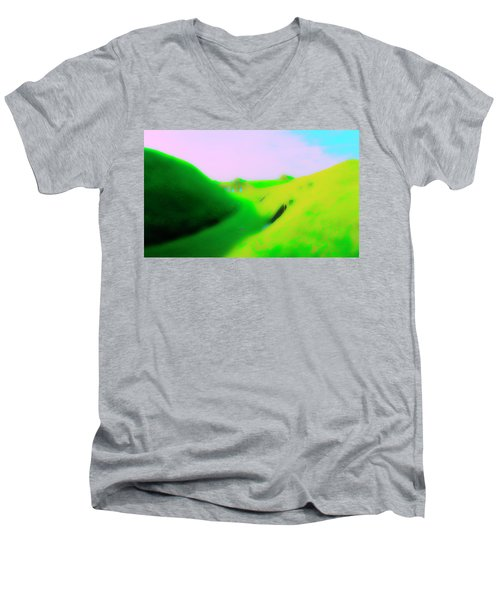 Bombproofs At Dover Men's V-Neck T-Shirt by Jan W Faul