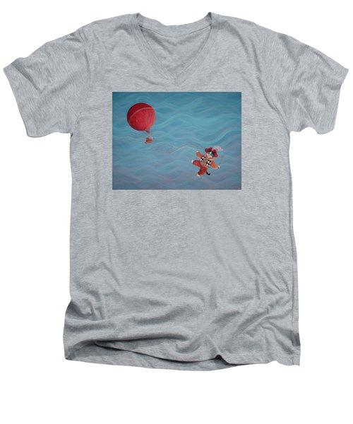 Bon Voyage Men's V-Neck T-Shirt by Dee Davis