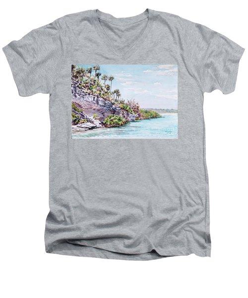Bonefish Creek Watercolour Study Men's V-Neck T-Shirt