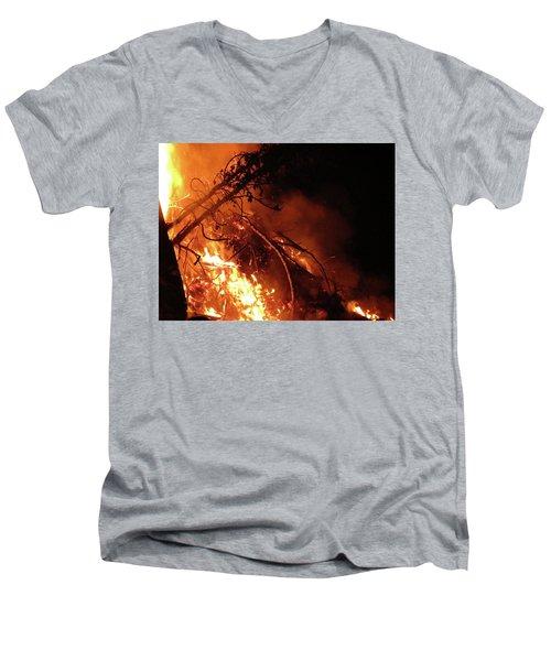 Bonfire Men's V-Neck T-Shirt