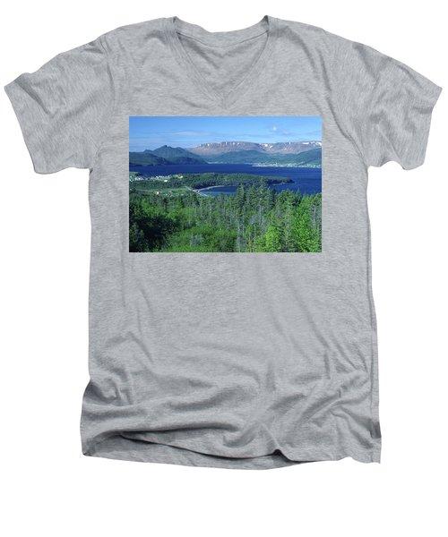 Bonne Bay, Newfoundland Men's V-Neck T-Shirt
