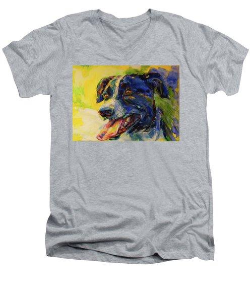Bonny Men's V-Neck T-Shirt by Koro Arandia