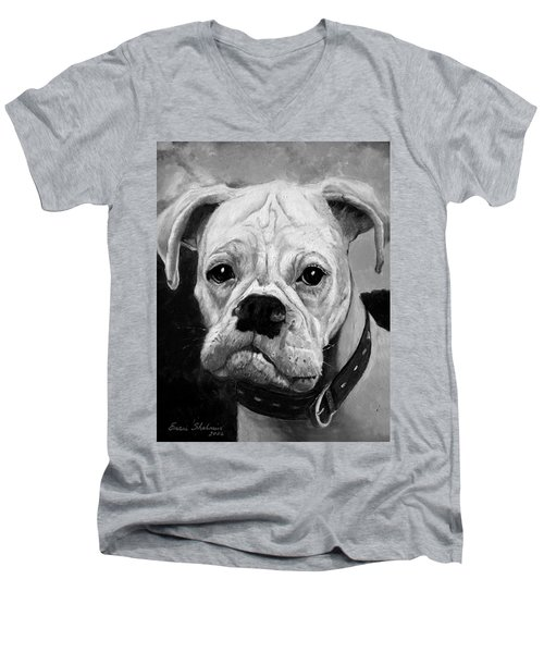 Boo The Boxer Men's V-Neck T-Shirt