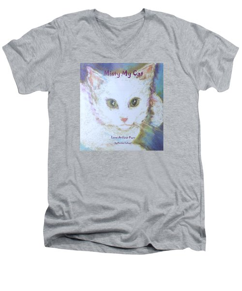 Book Misty My Cat Men's V-Neck T-Shirt by Denise Fulmer