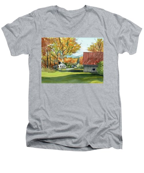 Boone Bungalow And Barn Men's V-Neck T-Shirt