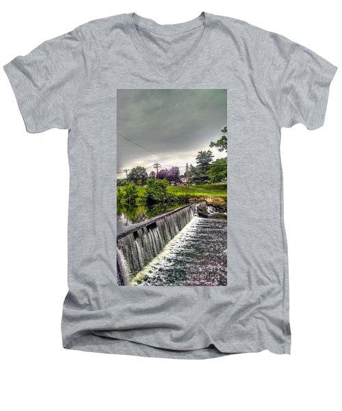 Boonton New Jersey Spillway Men's V-Neck T-Shirt