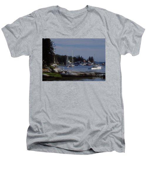 Boothbay Harbor In Maine Men's V-Neck T-Shirt